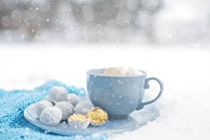 Hintergrundbilder Kekse Tasse Schneeflocken das Essen