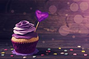 Wallpaper Fairy cake Roses Valentine's Day Violet Heart Food