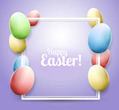 Images Easter Colored background Eggs Multicolor English