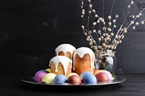 Papel de Parede Desktop Páscoa Kulitsch Acucar glace Ovos Alimentos