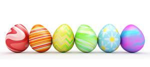 Hintergrundbilder Ostern Weißer hintergrund Bunte Ei