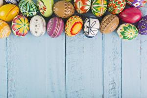 Image Easter Wood planks Eggs Design