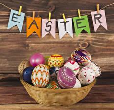 Wallpaper Easter Boards Eggs English Clothespin Design
