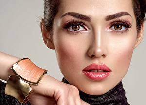 Bilder Augen Lippe Gesicht Starren Make Up Nase Mädchens