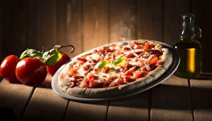 Hintergrundbilder Fast food Pizza Tomaten Bretter Lebensmittel