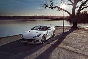 Bilder Ferrari Weiß Cabriolet Portofino Novitec Autos