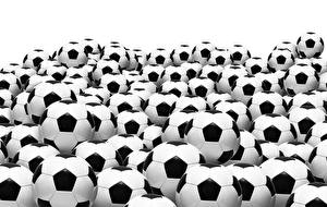 Picture Footbal Many White background Ball Sport
