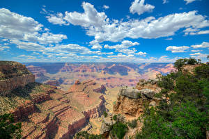 Photo Grand Canyon Park USA Parks Mountains Sky Clouds Nature