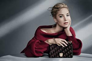 Wallpaper Handbag Jennifer Lawrence Dior Sweater Glance Hands Model Celebrities Girls