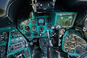 Sfondi desktop Elicottero Cabina di pilotaggio Russi Mi-24 B