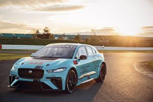 Hintergrundbilder Jaguar Fahrzeugtuning Hellblau 2018-19 VIP Car Jaguar I-Pace eTrophy auto