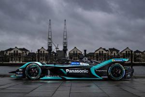 Bakgrundsbilder på skrivbordet Jaguar Tuning Formel 1 Sidovy 2018 I-Type 3 Bilar