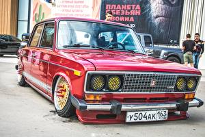 Image Lada Russian cars Tuning Red 2106 Cars