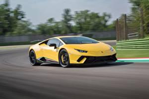 Images Lamborghini Yellow Motion Huracan Performante automobile