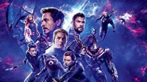 Photo Men Scarlett Johansson Robert Downey Jr Chris Evans Chris Hemsworth Avengers: Endgame film Celebrities