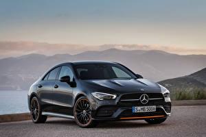 Fotos Mercedes-Benz Blau 2019 CLA 250 AMG Line Edition Orange Art Worldwide Autos