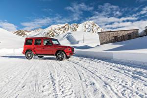 Wallpaper Mercedes-Benz Red Sport utility vehicle 2019 G 350 d AMG Line Worldwide Cars