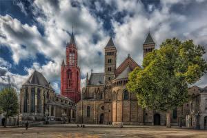 壁纸、、オランダ、寺院、教会堂、ハイダイナミックレンジ合成、Maastricht、