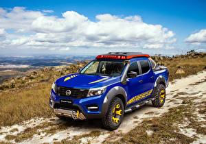Hintergrundbilder Nissan Fahrzeugtuning Pick-up Blau 2018-19 Frontier Sentinel