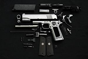 Wallpaper Pistols Cartridge (firearms) Black background Army