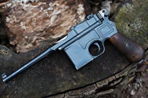 Hintergrundbilder Pistolen Nahaufnahme 1918 Mauser C96 Autos