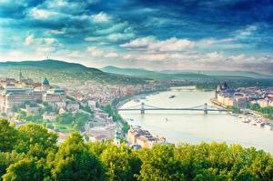 Wallpaper River Bridges Hungary Budapest dunai Cities