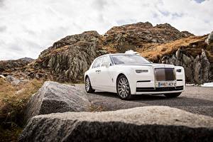 Hintergrundbilder Rolls-Royce Weiß 2017 Phantom Worldwide Autos