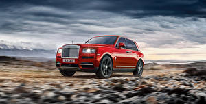 Wallpapers Rolls-Royce Red Metallic 2018 Cullinan Worldwide automobile