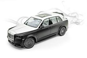 Fotos Rolls-Royce Weißer hintergrund 2019 Mansory Billionaire Autos