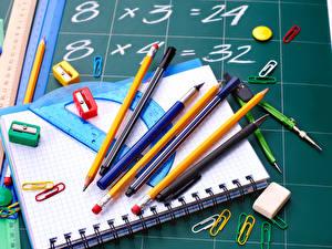Picture School Notebooks Pencils Ballpoint pen