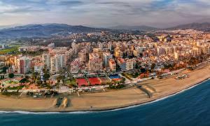 Hintergrundbilder Spanien Gebäude Küste Stadtstraße Torre del Mar Malaga province Städte