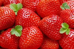 Hintergrundbilder Erdbeeren Hautnah Lebensmittel