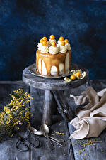 Fotos Süßware Torte Bretter Löffel Design Lebensmittel