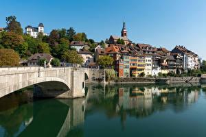 Fonds d'écran Suisse Bâtiment Lac Ponts Laufenburg