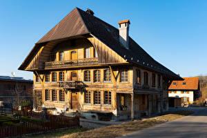 Bilder Schweiz Gebäude Hölzern Zollbruck