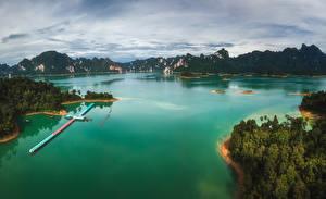 Fotos Thailand Tropen Gebirge Bootssteg Bucht