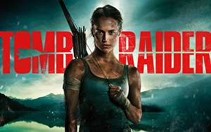 Pictures Tomb Raider 2018 Alicia Vikander Sleeveless shirt Movies Girls
