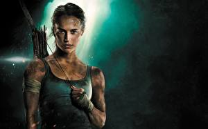 Bilder Tomb Raider 2018 Alicia Vikander Unterhemd Film Mädchens