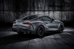 Pictures Toyota Grey Back view 2019 GR Supra A90 Gazoo Racing mkV automobile