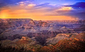 Pictures USA Grand Canyon Park Parks Sunrises and sunsets Canyon