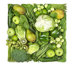 Pictures Vegetables Fruit Cabbage Apples Pears Kiwifruit Grapes Pepper Green