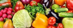 Hintergrundbilder Gemüse Peperone Kohl Radieschen Gurke Aubergine Birnen Tomate Lebensmittel
