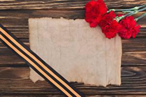 Papel de Parede Desktop Dia da Vitória 9 de maio Dianthus Cartão do molde Fita Flores