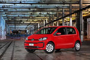 Hintergrundbilder Volkswagen Rot Metallisch 2017-19 MPI Latam