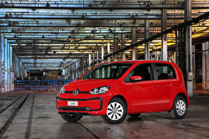 Bakgrundsbilder på skrivbordet Volkswagen Röd Metallisk 2017-19 MPI Latam bil