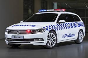 Bilder Volkswagen Fahrzeugtuning Weiß Polizei 2019 Passat Proline 132TSI Police Wagon