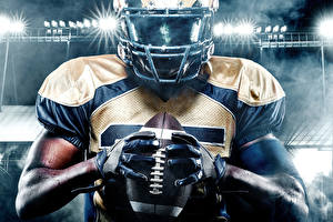 Images American football Men Hands Glove Ball Helmet Sport