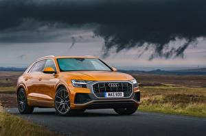 Hintergrundbilder Audi Orange Q8 Autos