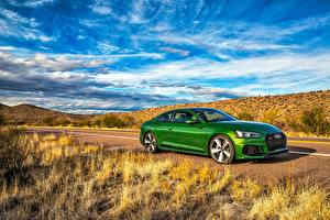 Hintergrundbilder Audi Grün Coupe RS 5