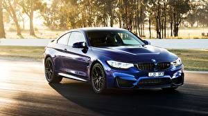 Pictures BMW Blue 2018 M4 CS Cars
